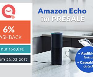 Amazon Echo im Presale bei QVC - Audible Gutschein für 2 Hörbücher +