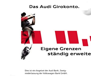 Aktion bei Audi Bank