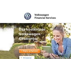 Aktion bei Volkswagen Bank