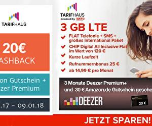 ae2eb0f7feed21 30 € Amazon.de Gutschein + 3 Monate Deezer Premium+   zusätzlich 20 € Cashback  sichern! - Getmore.de