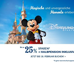 Aktion bei Disneyland® Paris