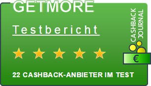 GETMORE bei Cashback Journal