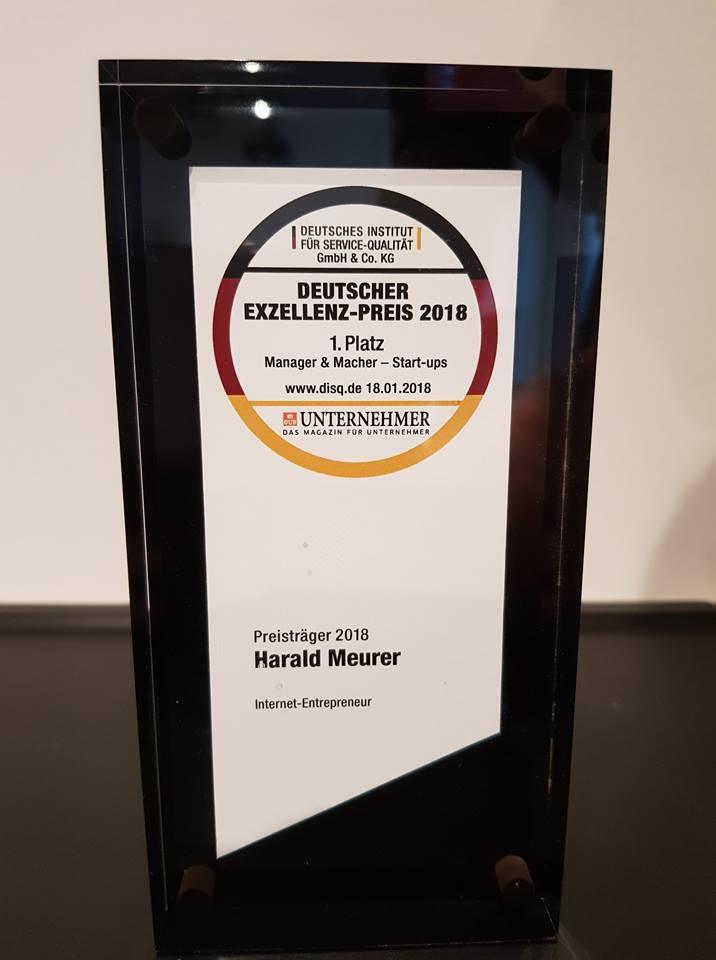 Harald Meurer - Deutscher Exzellenz Preis 2018